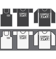 Singlet t-shirt and long-sleeved shirt template vector