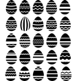 Seamless pattern made of stylized eggs vector