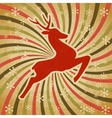 Retro christmas reindeer background vector
