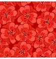 Abstract red flowers seamless pattern vector