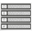 Infographic filmstrip vector