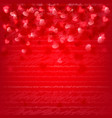Background with red hearts vector