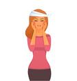Sick woman character image vector
