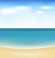 Summertime at beach vector