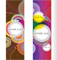 Abstract modern banner set design vector