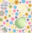Seamless pattern easter eggs vector