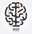 Infographics brain design diagram line style vector
