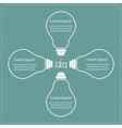 Four contour big light bulb idea concept business vector