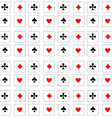 Pattern playing cards vector