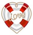 Life belt heart valentine vector