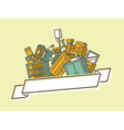 Pile of furniture vector