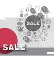 Hand drawn sale icons with icons background vector