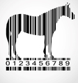 Barcode horse image vector