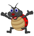 Happy ladybug cartoon vector