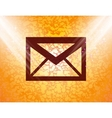 Mail envelope flat modern web button and space for vector