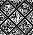 Hand-drawn waves pattern vector