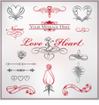 Calligraphy set love and heart vector
