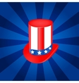 Top hat in usa flag color vector