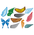 Wings collection vector