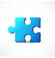 Blue puzzle vector