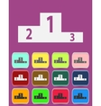 Sports competition podium - icon isolated vector