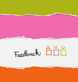 Retro torn paper feedback background template vector