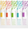 Abstract triangle template banner color set vector