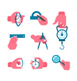Hand-held measurement tools vector