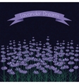 Lavender sprigs on the dark ink spots background vector