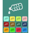 Drop bottle icon vector