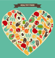 Eco food icons set  vegetables and fruits vector