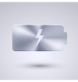 Full metal icon on blue background eps10 vector