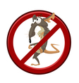 No cartoon rat vector
