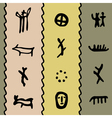 Petroglyph pattern vector