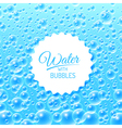 Water background with bubbles vector