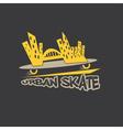 Urban skate design template vector
