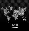 World map on black vector