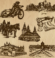Traveling poland - an hand drawn pack vector