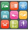 Icon car service 5 vector
