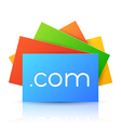 Domain name on colorful paper card vector
