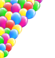 Multicolored inflatable air balls isolated on vector
