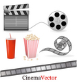 Big set of cinema elements vector