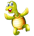 A smiling turtle vector