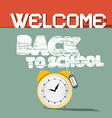 Welcome back to school retro vector