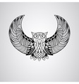 Black owl vector