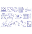 Doodle design of the different tools for vector