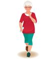 Elderly woman runner vector