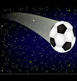 Soccer ball on background starry sky vector