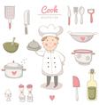 Cook set vector