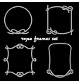 Rope frames on black background vector